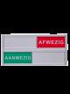 Schuifbordje kantoor met tekst Aanwezig Afwezig I Vrij bezet deur bordje 125 mm x 30 mm, magnetisch en wordt geleverd met twee 3M dubbelzijdige stickers