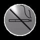 rvs deurbordje pictogram: verboden te roken| ROND | Zelfklevend