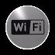 rvs deurbordje pictogram: wifi| ROND 82mm| Zelfklevend