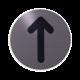 rvs deurbordje pictogram: Pijl| ROND 82mm| Zelfklevend