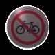 rvs deurbordje pictogram: Verboden fietsen te plaatsen| ROND 82mm| Zelfklevend