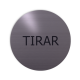 rvs deurbordje spaanse tekst trekken: Tirar| ROND 82mm| Zelfklevend