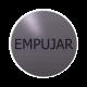rvs deurbordje spaanse tekst duwen: Empujar| ROND 82mm| Zelfklevend
