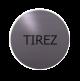 rvs deurbordje Franse tekst trekken: Tirez| ROND 82mm| Zelfklevend