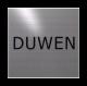 rvs deurbordje tekst: duwen| vierkant 125X125MM | Zelfklevend