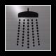 rvs deurbordje pictogram: douche| vierkant 125X125MM | Zelfklevend