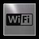 rvs deurbordje pictogram: wifi| vierkant 125X125MM | Zelfklevend