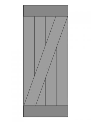 loftdeur eiken model 2