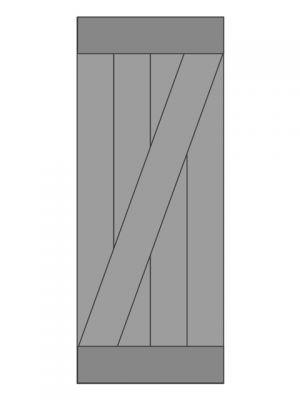 Loftdeur vuren model 2