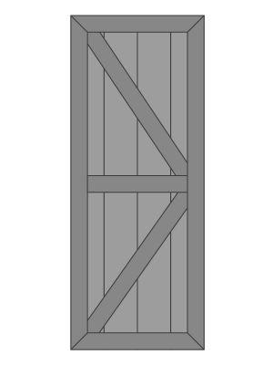 Vuren Schuifdeur op Maat voor U gemaakt-Dubbele Z-vorm