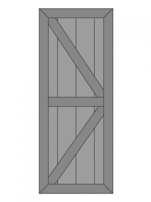 Loftdeur eiken model 4