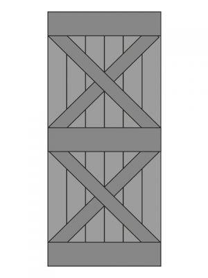 Loftdeur eiken model 5