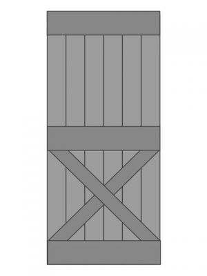 Loftdeur eiken model 6