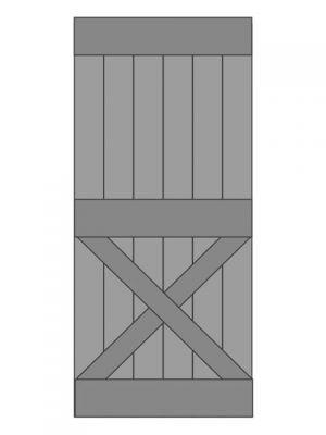 Loftdeur vuren model 6