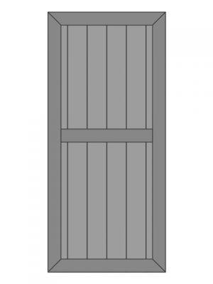 Loftdeur eiken model 7