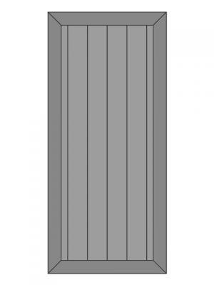 Loftdeur vuren model 8