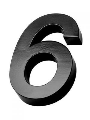 RVS Zwart huisnummer 3d nummer 6