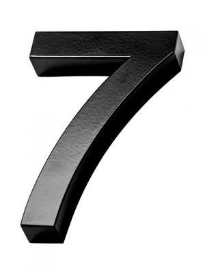 RVS Zwart huisnummer 3d nummer 7