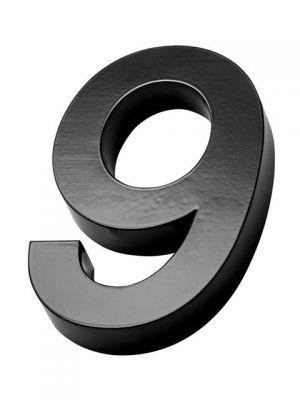 RVS Zwart huisnummer 3d nummer 9