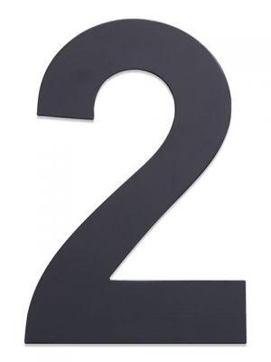 RVS Huisnummer 25cm Antraciet Nummer 2