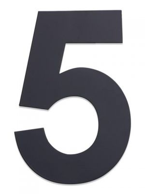 RVS Huisnummer 25cm Antraciet Nummer 5