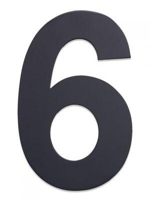 RVS Huisnummer 25cm Antraciet Nummer 6