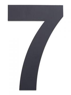 RVS Huisnummer 25cm Antraciet Nummer 7
