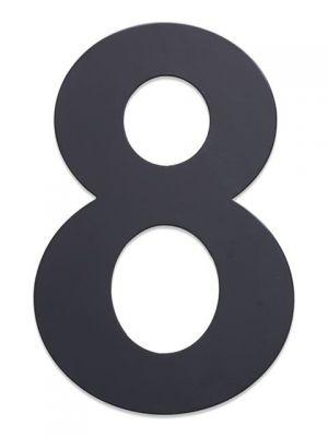 RVS Huisnummer 25cm Antraciet Nummer 8
