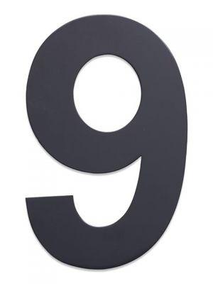 RVS Huisnummer 25cm Antraciet Nummer 9