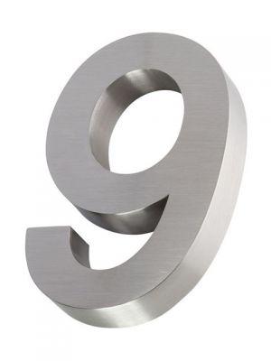 RVS 3D huisnummer 20cm Nummer 9