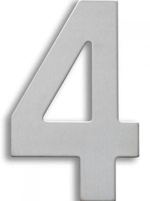 RVS Huisnummer 15cm Nummer 4