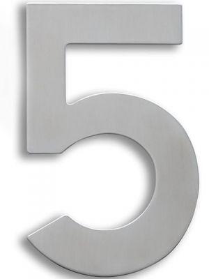 RVS Huisnummer 15cm Nummer 5