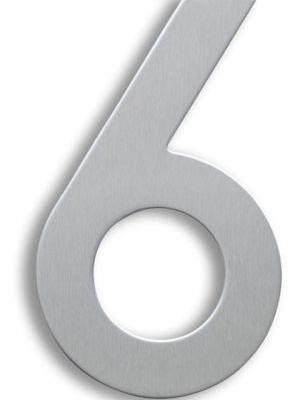 RVS Huisnummer 15cm Nummer 6