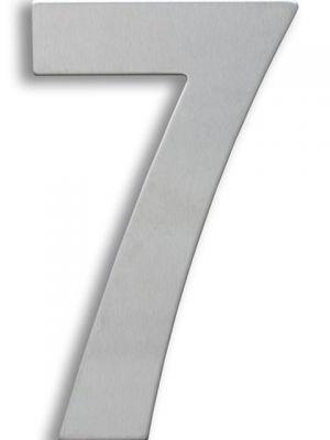 RVS Huisnummer 15cm Nummer 7