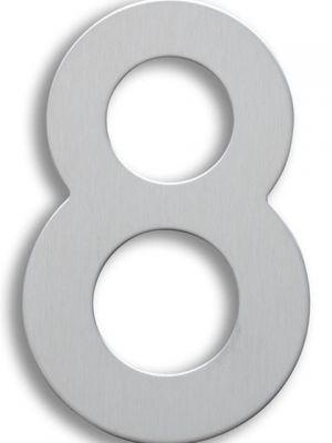 RVS Huisnummer 15cm Nummer 8