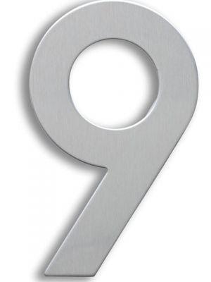 RVS Huisnummer 15cm Nummer 9