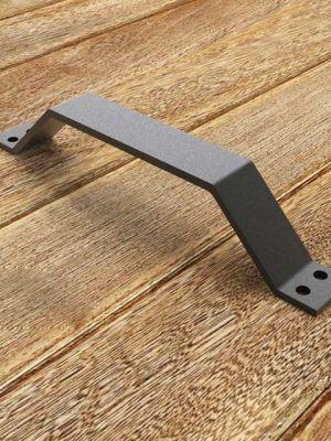 Stalen handvat: Greep voor een schuifdeur. Mat zwart Smeedijzereffect handgreep