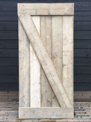 Steigerhouten deur op maat - Z-vrom