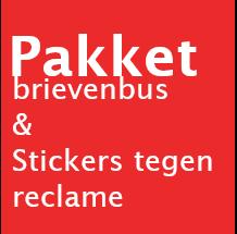 Link naar de webpagina waar onze pakketbrievenbussen te bestellen zijn en de erg handige metalen stickers tegen ongewenste reclame en colportage aan de deur.